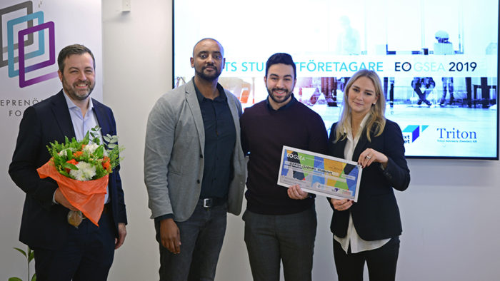 CEO Hamza Qadoumi Named Sweden's Student Entrepreneur of the Year