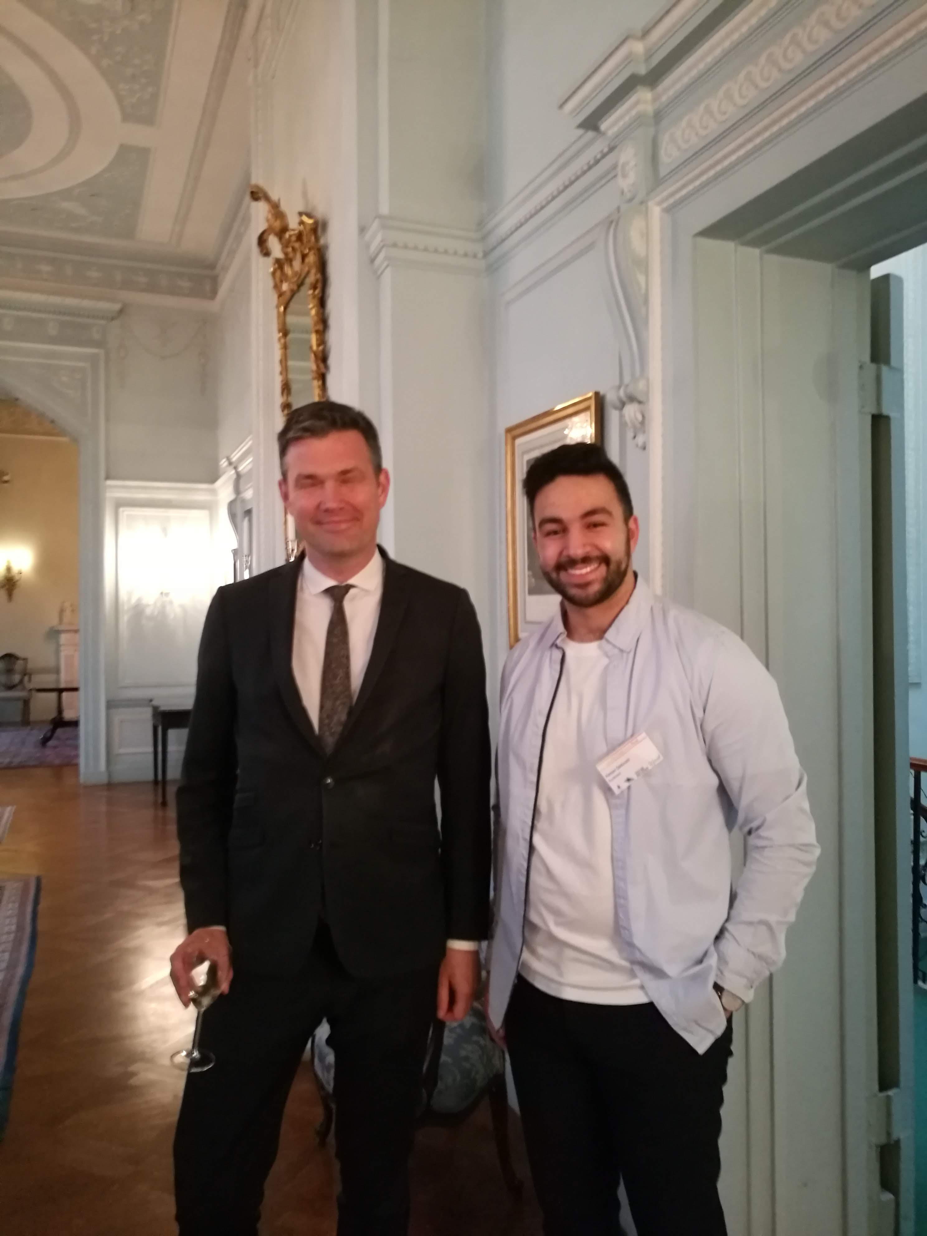 Hamza meets the Swedish Ambassador to Great Britain
