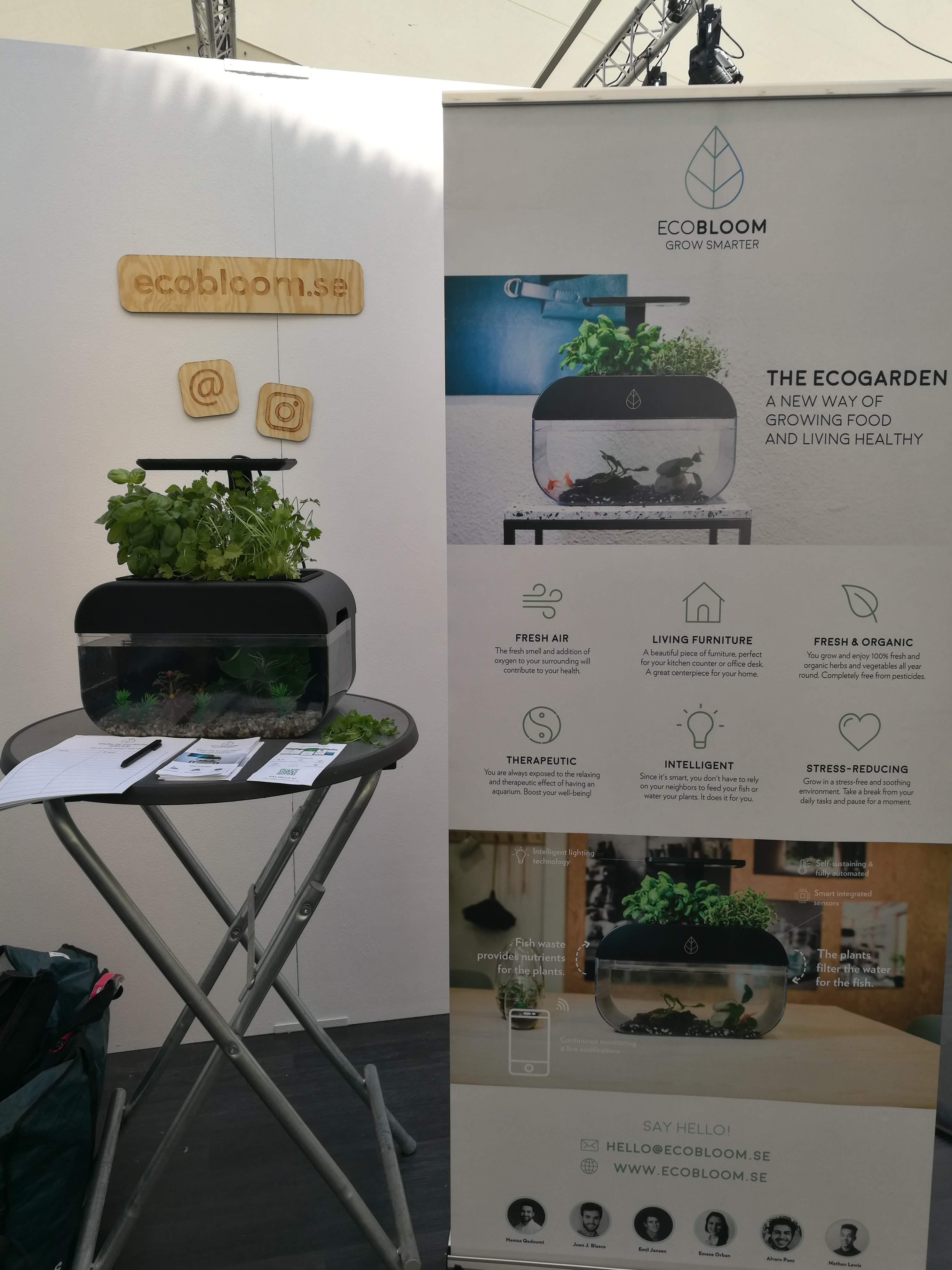 EcoBloom booth at Smaka på Stockholm