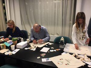 making custom ecobloom tote bags