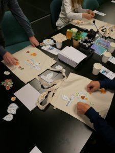 designing tote bags